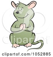 Royalty Free Vector Clip Art Illustration Of A Begging Mouse 1