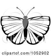 Black And White Flying Butterfly Logo 16