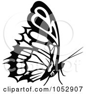 Black And White Flying Butterfly Logo 20