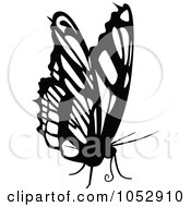 Black And White Flying Butterfly Logo 21
