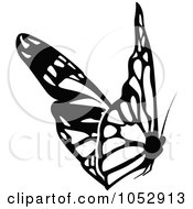 Black And White Flying Butterfly Logo 19