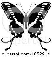 Black And White Flying Butterfly Logo 18