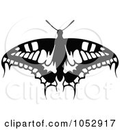 Black And White Flying Butterfly Logo 17
