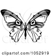 Black And White Flying Butterfly Logo 14