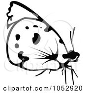 Black And White Flying Butterfly Logo 15