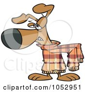 Royalty Free Vector Clip Art Illustration Of A Cartoon Disgusted Dog Wearing A Sweater