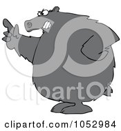 Royalty Free Vector Clip Art Illustration Of A Mad Bear Pointing