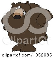 Royalty Free Vector Clip Art Illustration Of A Big Brown Bear With His Hands On His Hips by djart