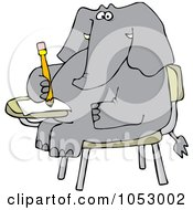 Royalty Free Vector Clip Art Illustration Of An Elephant Student