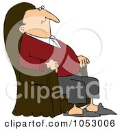 Royalty Free Vector Clip Art Illustration Of A Content Man Relaxing In An Armchair