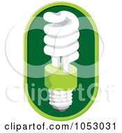 Royalty Free Vector Clip Art Illustration Of A Fluorescent Spiral Light Bulb 1 by Any Vector