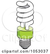 Royalty Free Vector Clip Art Illustration Of A Fluorescent Spiral Light Bulb 2 by Any Vector