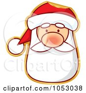 Royalty Free Vector Clip Art Illustration Of A Peeling Santa Sticker