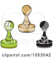 Royalty Free Vector Clip Art Illustration Of A Digital Collage Of Round Rubber Stamps