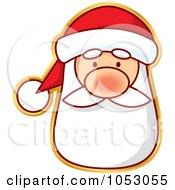 Royalty Free Vector Clip Art Illustration Of A Santa Sticker