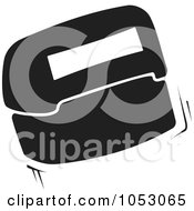 Royalty Free Vector Clip Art Illustration Of A Black And White Flip Rubber Stamp by Any Vector