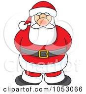 Royalty Free Vector Clip Art Illustration Of A Cartoon Santa