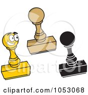 Royalty Free Vector Clip Art Illustration Of A Digital Collage Of Rectangular Rubber Stamps