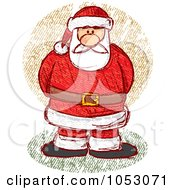Royalty Free Vector Clip Art Illustration Of A Sketched Santa