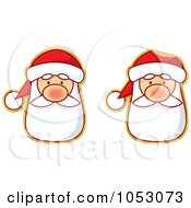 Royalty Free Vector Clip Art Illustration Of A Digital Collage Of Santa Stickers
