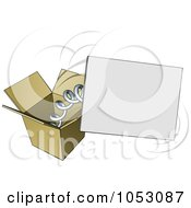 Royalty Free Vector Clip Art Illustration Of A Springy Sign Popping Out Of A Box by AtStockIllustration