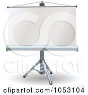 Royalty Free Vector Clip Art Illustration Of A Blank Presentation Roller Screen by AtStockIllustration