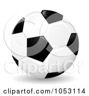 Royalty Free 3d Vector Clip Art Illustration Of A 3d Glossy Soccer Ball by MilsiArt