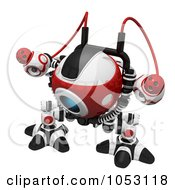 Royalty Free 3d Clip Art Illustration Of A 3d Web Crawler Robot Cam by Leo Blanchette