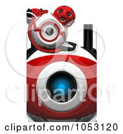 Royalty Free 3d Clip Art Illustration Of A Close Up Of A 3d Web Crawler Robot Cams Eyes by Leo Blanchette