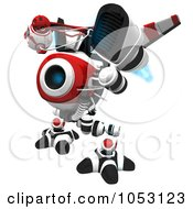 Royalty Free 3d Clip Art Illustration Of A 3d Vigilent Web Crawler Robot Cam by Leo Blanchette