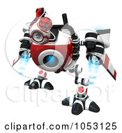Royalty Free 3d Clip Art Illustration Of A 3d Web Crawler Robot Cam Searching by Leo Blanchette