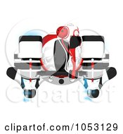 Royalty Free 3d Clip Art Illustration Of An Aerial View Of A 3d Web Crawler Robot Cam by Leo Blanchette