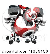 Royalty Free 3d Clip Art Illustration Of A 3d Web Crawler Robot Cam Investigating