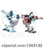 Royalty-Free 3d Clip Art Illustration Of 3d Web Crawler Robot Cams