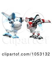 Royalty Free 3d Clip Art Illustration Of 3d Web Crawler Robot Cams by Leo Blanchette