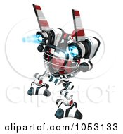 Royalty Free 3d Clip Art Illustration Of A 3d Web Crawler Robot Cam Rear View by Leo Blanchette