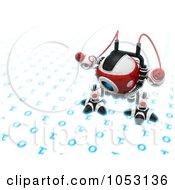 3d Web Crawler Robot Cam Inspecting Binary Code