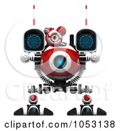 Royalty Free 3d Clip Art Illustration Of A 3d Web Crawler Robot Cam Facing Forward by Leo Blanchette