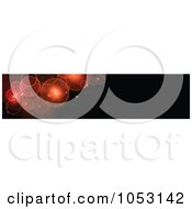 Royalty Free Vector Clip Art Illustration Of A Black Website Banner With Orange And Red Bokeh Lights