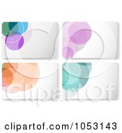 Royalty Free Vector Clip Art Illustration Of A Digital Collage Of Colorful Circle Gift Cards Or Background Designs by KJ Pargeter