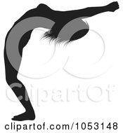 Royalty Free Vector Clip Art Illustration Of A Black Silhouetted Yoga Pose Woman 6