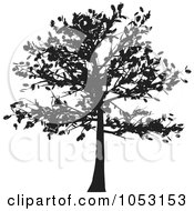 Royalty Free Vector Clip Art Illustration Of A Black Tree Silhouette 1