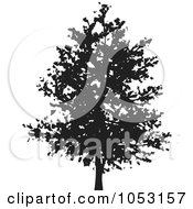 Royalty Free Vector Clip Art Illustration Of A Black Tree Silhouette 3