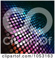Royalty Free Vector Clip Art Illustration Of A Colorful Halftone Dot Background