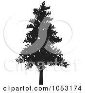 Royalty Free Vector Clip Art Illustration Of A Black Tree Silhouette 4