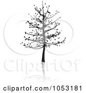 Royalty Free Vector Clip Art Illustration Of A Black Tree Silhouette And Reflection 5