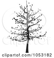 Royalty Free Vector Clip Art Illustration Of A Black Tree Silhouette 5