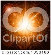 Royalty Free Vector Clip Art Illustration Of A Orange Burst Background With Flares