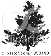 Royalty Free Vector Clip Art Illustration Of A Black Tree Silhouette 6