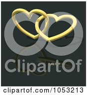 3d Gold Hearts